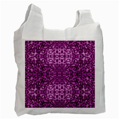 Lion In Purple Recycle Bag (two Side)  by pepitasart
