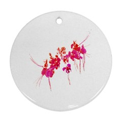 Minimal Floral Print Round Ornament (two Sides)  by dflcprints