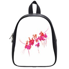 Minimal Floral Print School Bags (small)  by dflcprints
