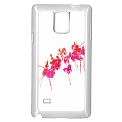 Minimal Floral Print Samsung Galaxy Note 4 Case (white) by dflcprints