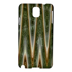 Green Brown Zigzag Samsung Galaxy Note 3 N9005 Hardshell Case by BrightVibesDesign
