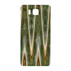 Green Brown Zigzag Samsung Galaxy Alpha Hardshell Back Case by BrightVibesDesign
