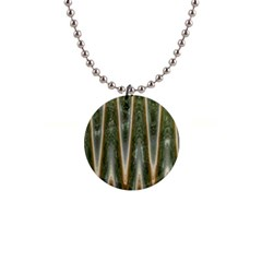 Green Brown Zigzag Button Necklaces by BrightVibesDesign