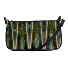 Green Brown Zigzag Shoulder Clutch Bags by BrightVibesDesign