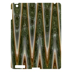 Green Brown Zigzag Apple Ipad 3/4 Hardshell Case by BrightVibesDesign