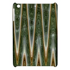 Green Brown Zigzag Apple Ipad Mini Hardshell Case by BrightVibesDesign