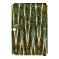 Green Brown Zigzag Samsung Galaxy Tab Pro 10 1 Hardshell Case by BrightVibesDesign