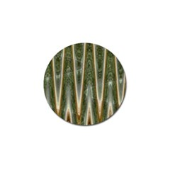 Green Brown Zigzag Golf Ball Marker (10 Pack) by BrightVibesDesign