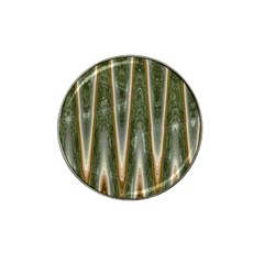 Green Brown Zigzag Hat Clip Ball Marker by BrightVibesDesign