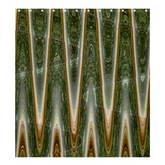 Green Brown Zigzag Shower Curtain 66  X 72  (large)  by BrightVibesDesign