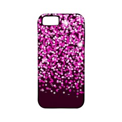 Pink Glitter Rain Apple Iphone 5 Classic Hardshell Case (pc+silicone) by KirstenStar