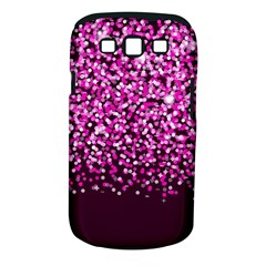 Pink Glitter Rain Samsung Galaxy S Iii Classic Hardshell Case (pc+silicone) by KirstenStar