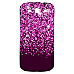 Pink Glitter Rain Samsung Galaxy S3 S Iii Classic Hardshell Back Case by KirstenStar