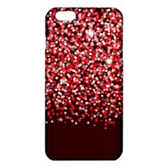 Red Glitter Rain Iphone 6 Plus/6s Plus Tpu Case by KirstenStar