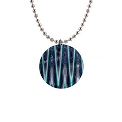 Blue Turquoise Zigzag Pattern Button Necklaces by BrightVibesDesign