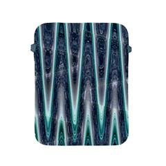 Blue Turquoise Zigzag Pattern Apple Ipad 2/3/4 Protective Soft Cases by BrightVibesDesign