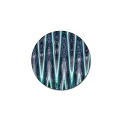 Blue Turquoise Zigzag Pattern Golf Ball Marker by BrightVibesDesign