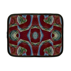 Fancy Maroon Blue Design Netbook Case (small)  by BrightVibesDesign
