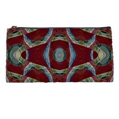 Fancy Maroon Blue Design Pencil Cases by BrightVibesDesign