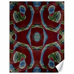 Fancy Maroon Blue Design Canvas 18  X 24   by BrightVibesDesign