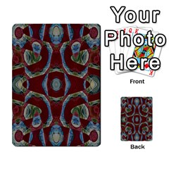 Fancy Maroon Blue Design Multi-purpose Cards (rectangle)  by BrightVibesDesign
