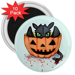 Halloween Dragon 3  Magnets (10 Pack)  by lvbart