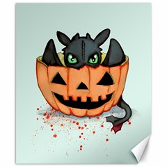 Halloween Dragon Canvas 8  X 10  by lvbart