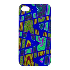 Bright Blue Mod Pop Art  Apple Iphone 4/4s Hardshell Case by BrightVibesDesign
