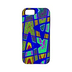 Bright Blue Mod Pop Art  Apple Iphone 5 Classic Hardshell Case (pc+silicone) by BrightVibesDesign