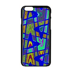 Bright Blue Mod Pop Art  Apple Iphone 6/6s Black Enamel Case by BrightVibesDesign