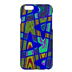 Bright Blue Mod Pop Art  Apple Iphone 6 Plus/6s Plus Hardshell Case by BrightVibesDesign