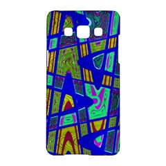 Bright Blue Mod Pop Art  Samsung Galaxy A5 Hardshell Case  by BrightVibesDesign