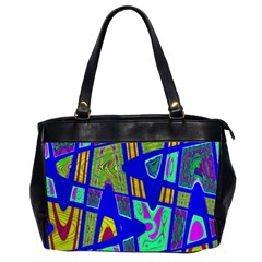 Bright Blue Mod Pop Art  Office Handbags (2 Sides)  by BrightVibesDesign