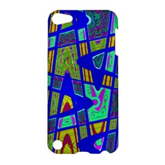 Bright Blue Mod Pop Art  Apple Ipod Touch 5 Hardshell Case by BrightVibesDesign