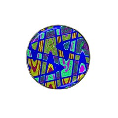 Bright Blue Mod Pop Art  Hat Clip Ball Marker (10 Pack) by BrightVibesDesign