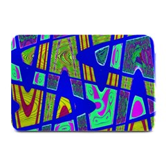 Bright Blue Mod Pop Art  Plate Mats by BrightVibesDesign