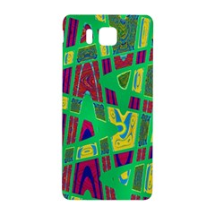 Bright Green Mod Pop Art Samsung Galaxy Alpha Hardshell Back Case by BrightVibesDesign