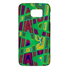Bright Green Mod Pop Art Galaxy S6 by BrightVibesDesign