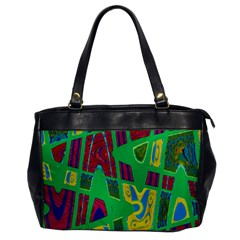 Bright Green Mod Pop Art Office Handbags by BrightVibesDesign