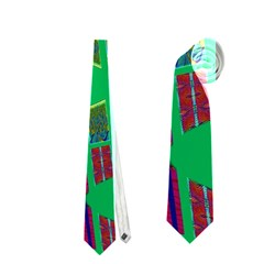 Bright Green Mod Pop Art Neckties (two Side)  by BrightVibesDesign