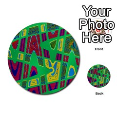 Bright Green Mod Pop Art Multi-purpose Cards (round)  by BrightVibesDesign