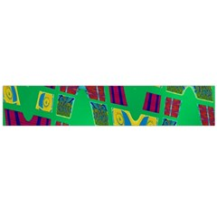 Bright Green Mod Pop Art Flano Scarf (large)  by BrightVibesDesign