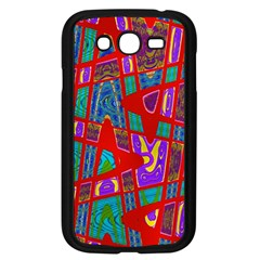 Bright Red Mod Pop Art Samsung Galaxy Grand Duos I9082 Case (black) by BrightVibesDesign