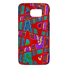 Bright Red Mod Pop Art Galaxy S6 by BrightVibesDesign