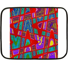 Bright Red Mod Pop Art Fleece Blanket (mini) by BrightVibesDesign