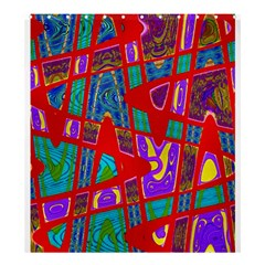 Bright Red Mod Pop Art Shower Curtain 66  X 72  (large)  by BrightVibesDesign