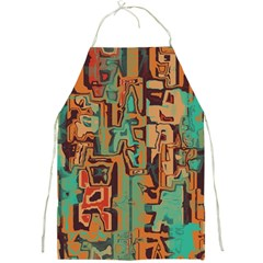 Brown Green Texture                              			full Print Apron by LalyLauraFLM