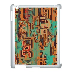 Brown Green Texture                              			apple Ipad 3/4 Case (white) by LalyLauraFLM