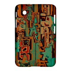 Brown Green Texture                              			samsung Galaxy Tab 2 (7 ) P3100 Hardshell Case by LalyLauraFLM