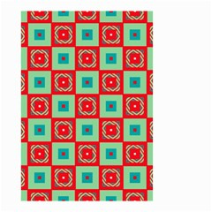 Blue Red Squares Pattern                                Small Garden Flag by LalyLauraFLM
